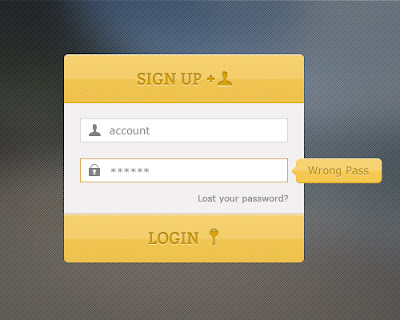 Login and Sign Up Form in PSD