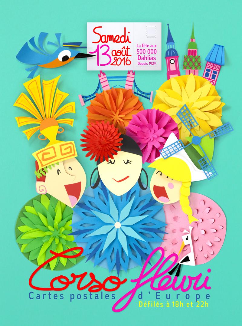 Affiche Corso Fleuri Sélestat 2016