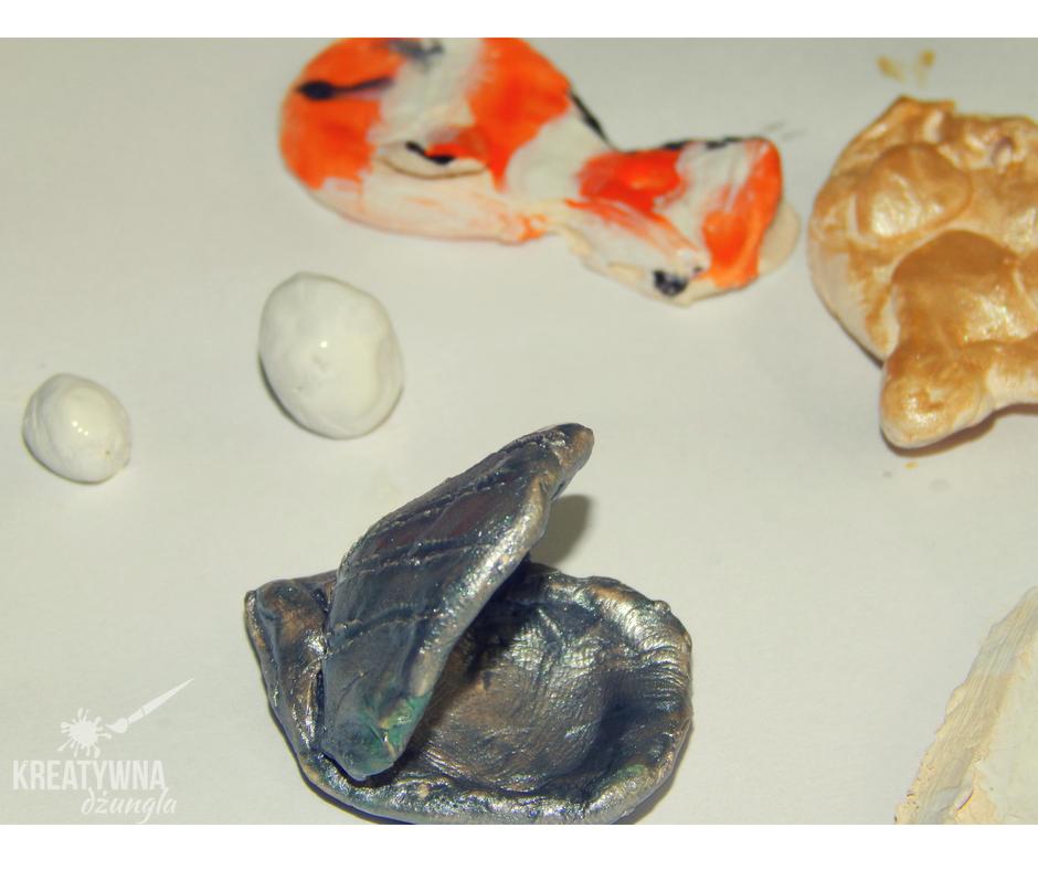 muszle, ryby z gliny