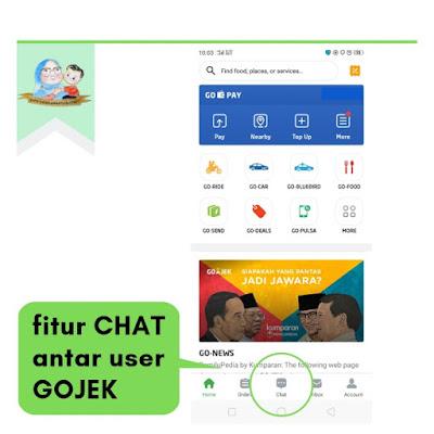 fitur chat antar user gojek