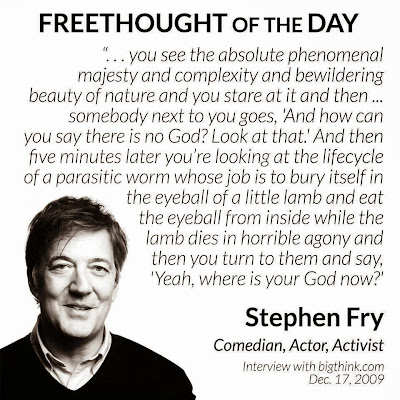 Stephen Fry Freethought Religion Quote Picture
