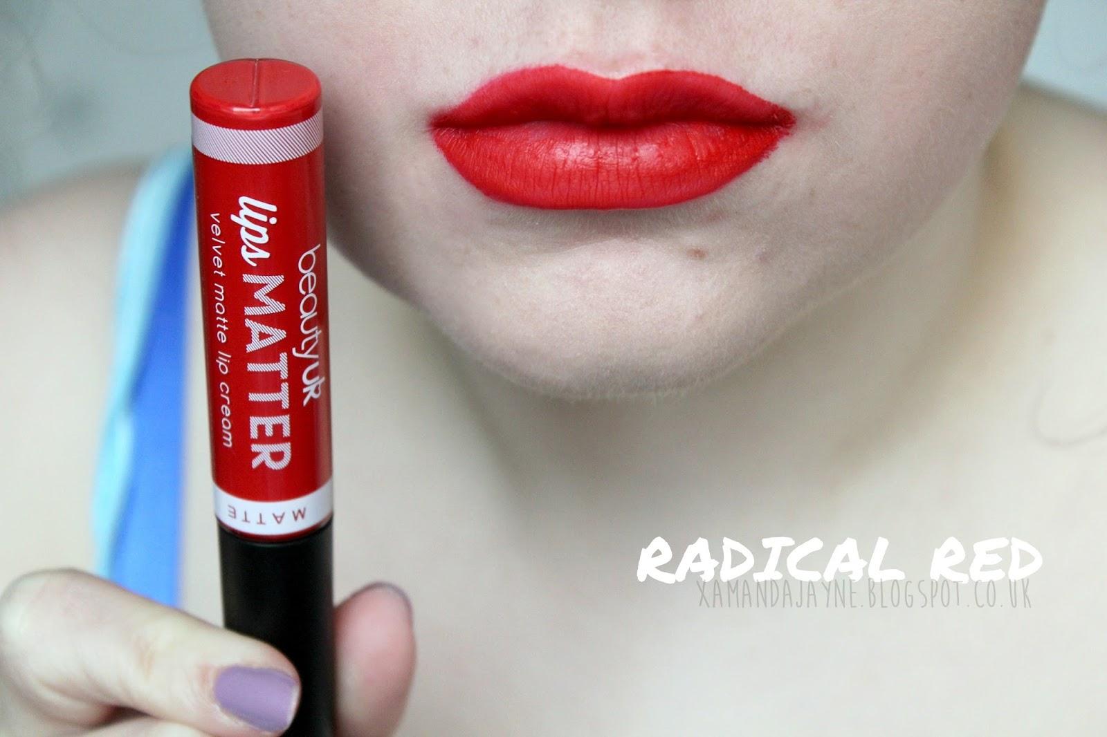 beautyuk lips matter radical red swatch