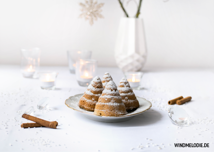 Tannenbaum Muffins Kuchen Weihnachten Rezept Zimt Rührteig