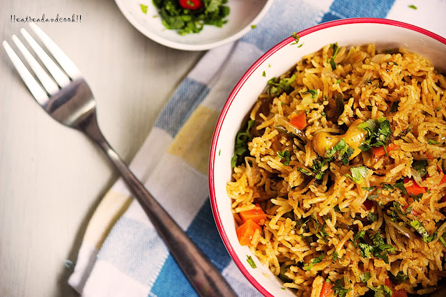 how to make Masale Bhat recipe and preparation with step by step pictures