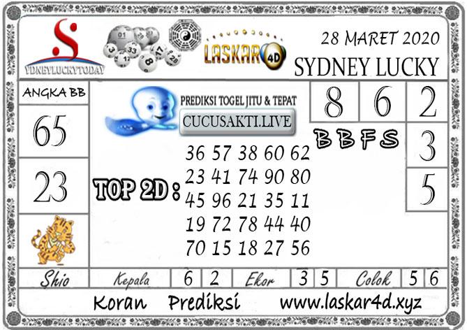 Prediksi Sydney Lucky Today LASKAR4D 28 MARET 2020