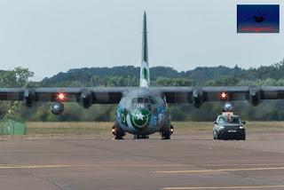 Pakistan Airforce C-130E Hercules transport heavy lift airshow