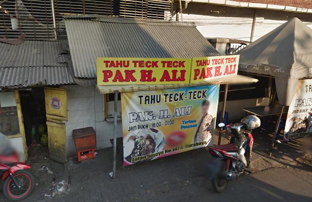 Tahu%2BTek%2Bpak%2BAli Rekomendasi Tempat Makan Enak dan Terfavorit di Surabaya