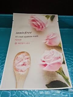 Rose sheet mask