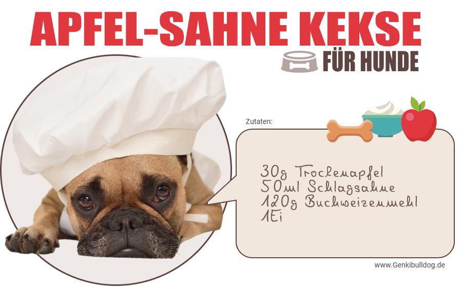 Rezept Apfel-Sahne Hundekekse selbst backen