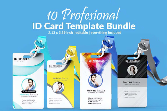 10 ID Card Design PSD Template