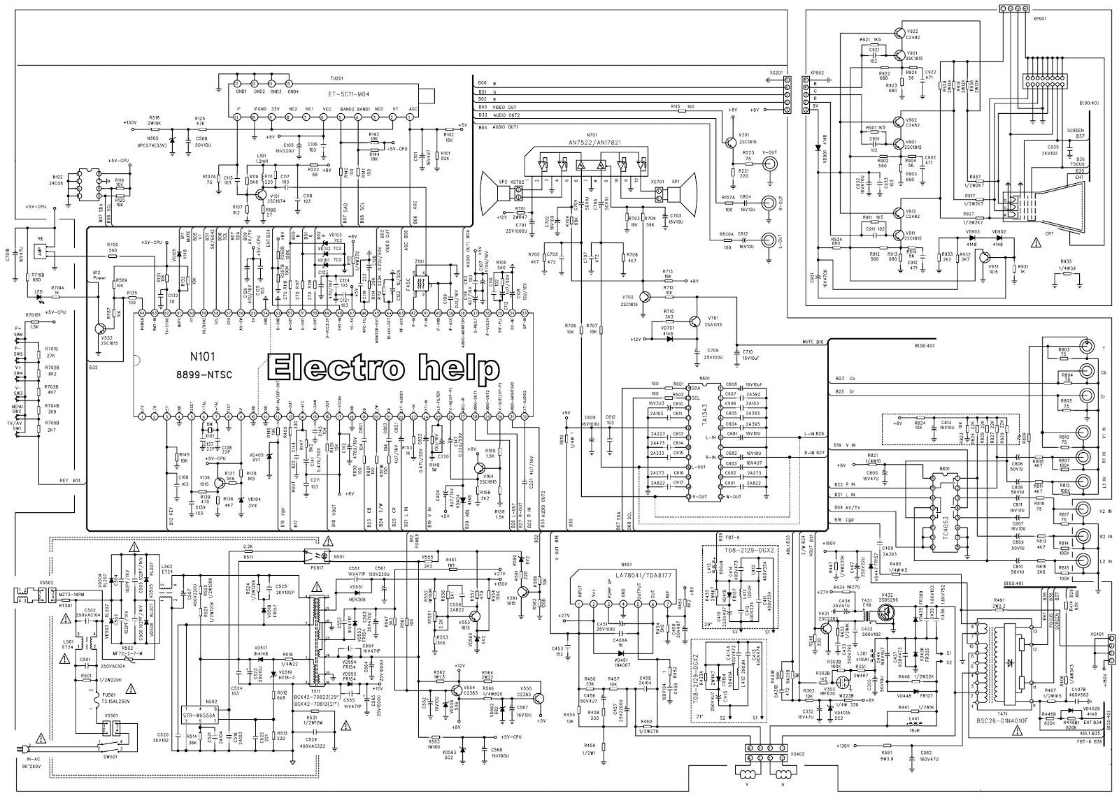 Circuit Diagram For Tv: Tv schematic diagram wiring