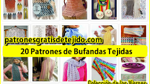 20 patrones de bufandas tejidas - Colección de los viernes