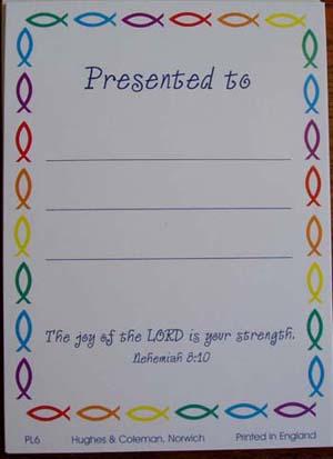 Petersham Bible Book & Tract Depot: H & C Presentation Labels