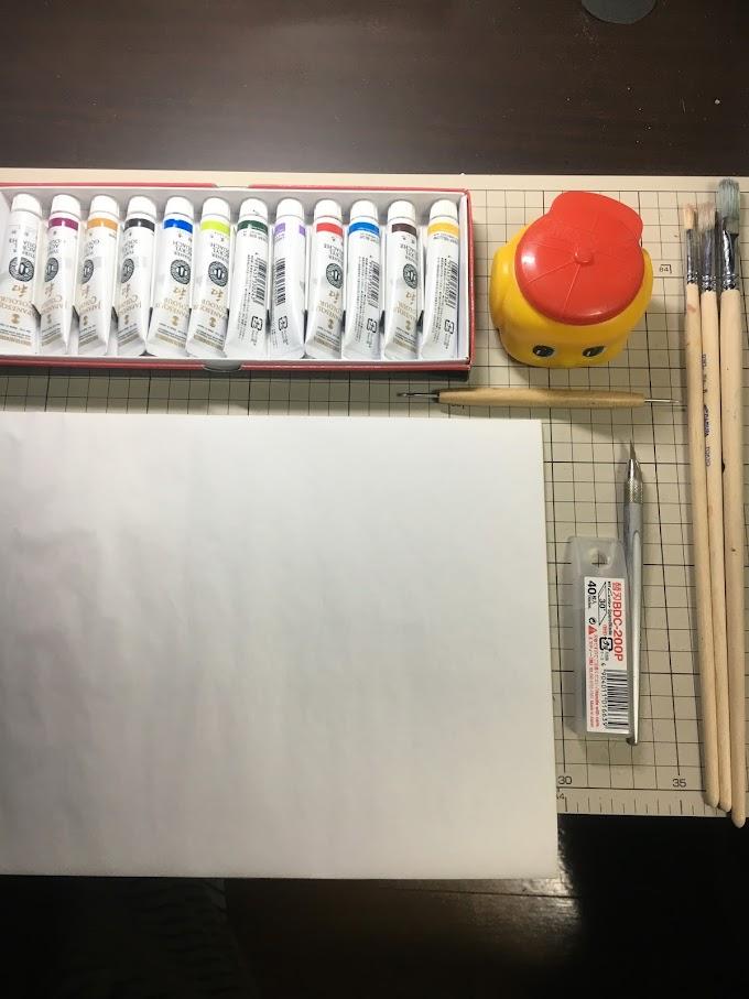 私の切り絵7つ道具