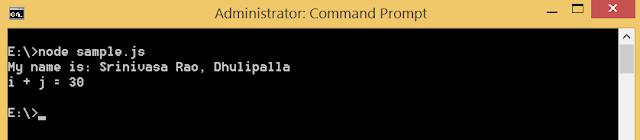 Run javascript in Node.js