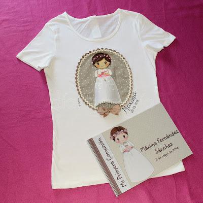 Camiseta Primera Comunión personalizada