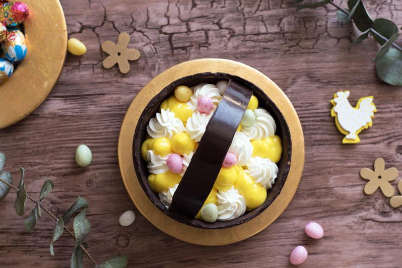 recette dessert coupe chocolat panier paques