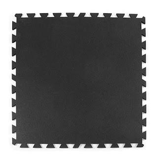 Greatmats rubber tile 8mm black interlocking for garages