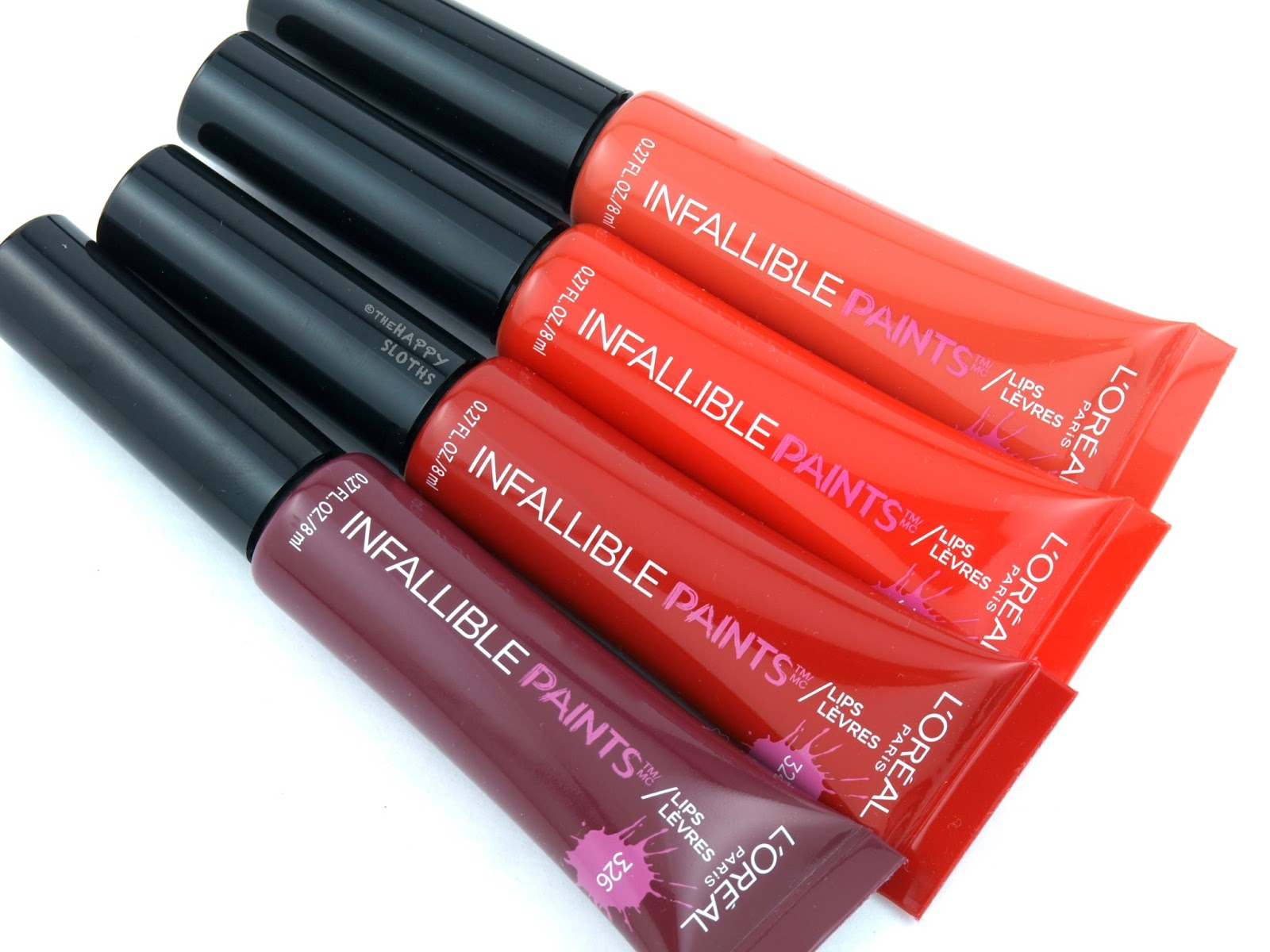 Loreal Infallible Paints Lips Liquid Lipstick Review And Swatches Torch Tshirt Women Pink Fuchsia L In 318 Fearless