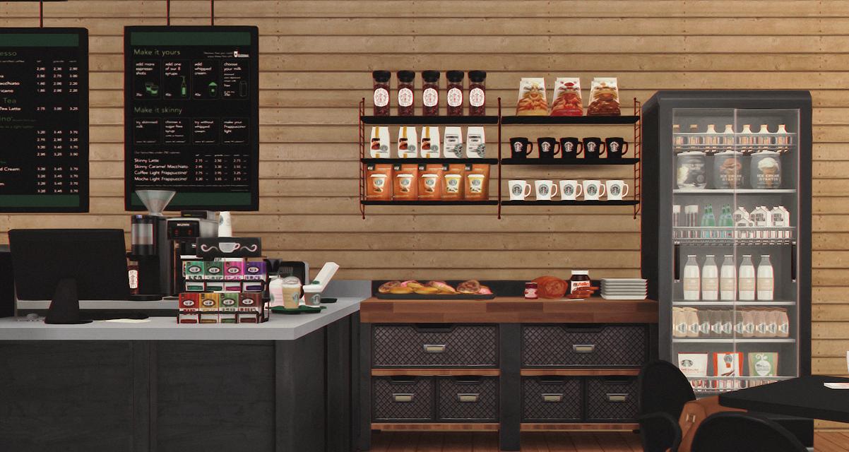 Starbucks Coffee Shop V2 Furnished Dreamteamsims