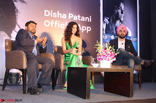 Disha Patani in Beautiful Green Gown at her App Launch 021.JPG