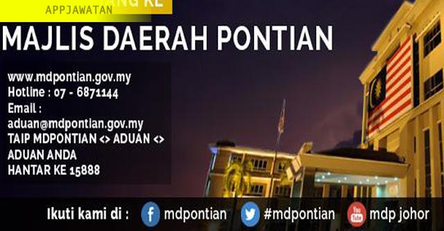 Jawatan Kosong Terkini di Majlis Daerah Pontian (MDPontian)