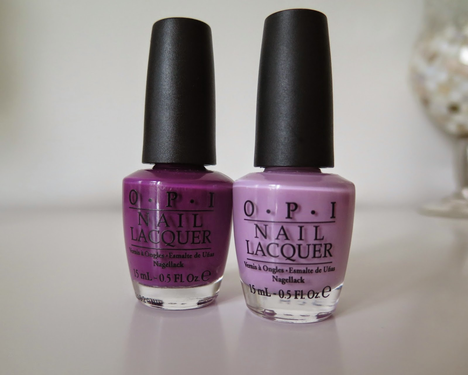 NOTD, OPI, luck lucky lavender, pamploma purple