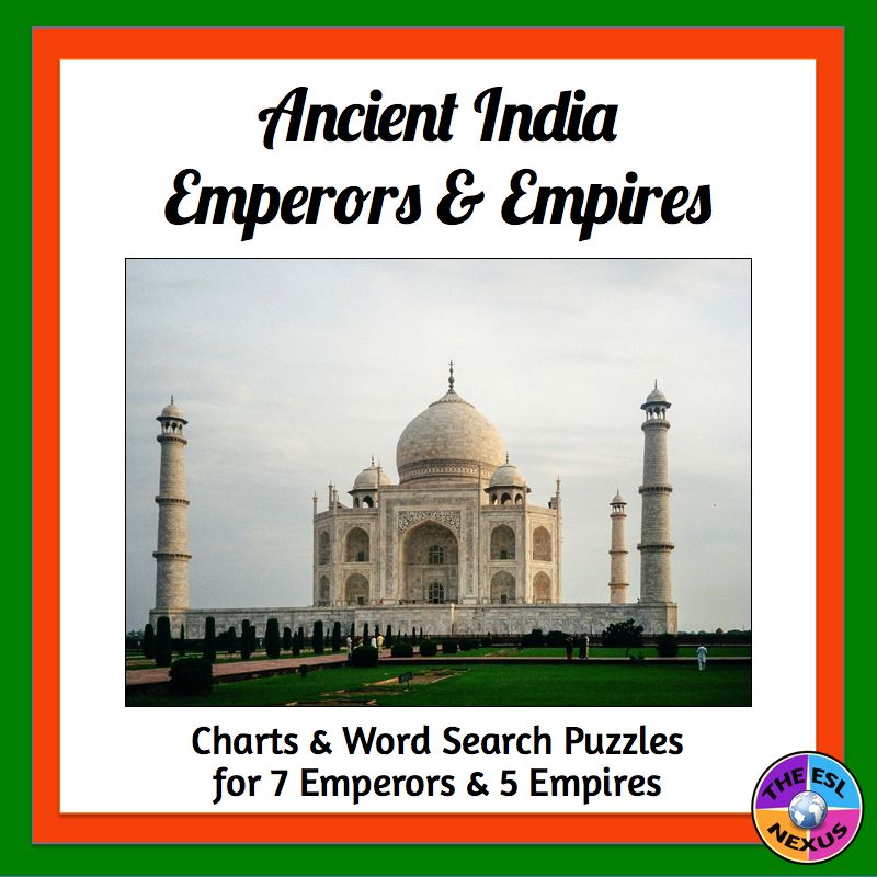 Get this new resource about Ancient India at a discounted price during TpT Back To School Sale on 8/1-2/17!
