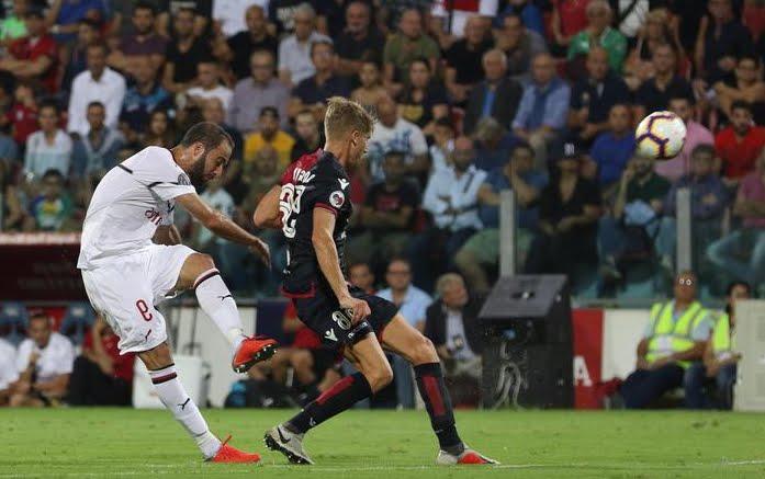 Cagliari-Milan è finita 1-1, pareggio di Higuain al suo primo gol rossonero.