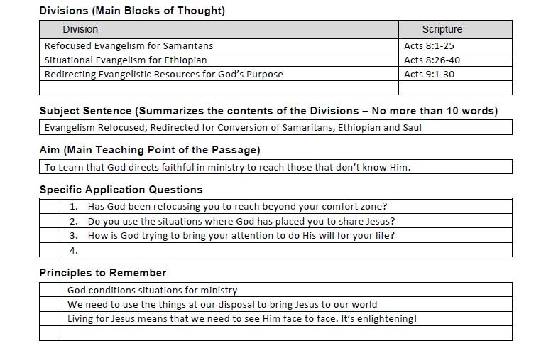 Homiletics 101 Homiletics Acts 8 Acts 9 30 Lesson 4