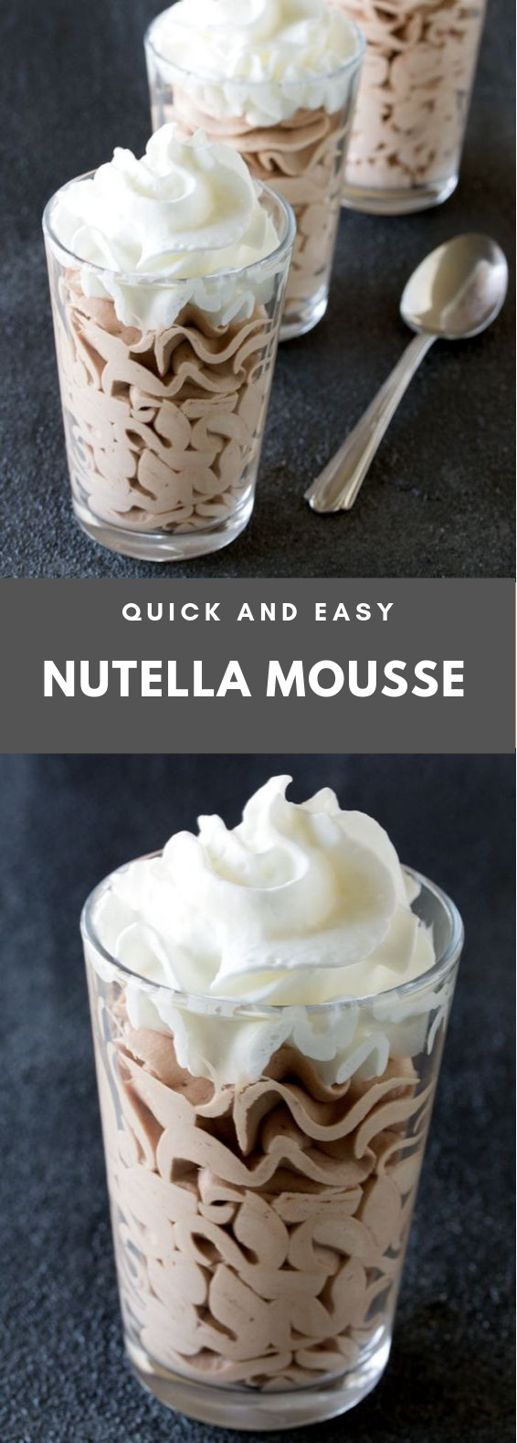 QUICK AND EASY NUTELLA MOUSSE #Dessert #Nutella