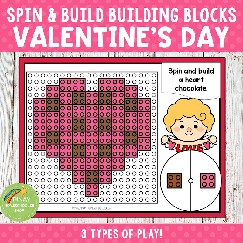 Valentines Day Themed LEGO Building Blocks Game