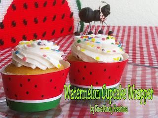 Watermelon Cupcake Wrapper Printable by Kims Kandy Kreations