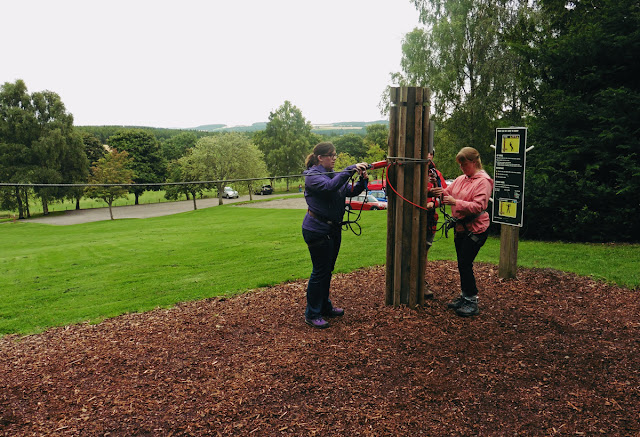 Safety first - Go Ape at Crathes Castle