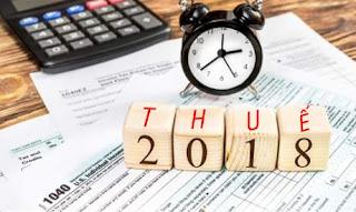 Một số lưu ý về chính sách thuế năm 2018