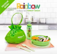 Dusdusan Rainbow Lunch Set Forest Green ANDHIMIND
