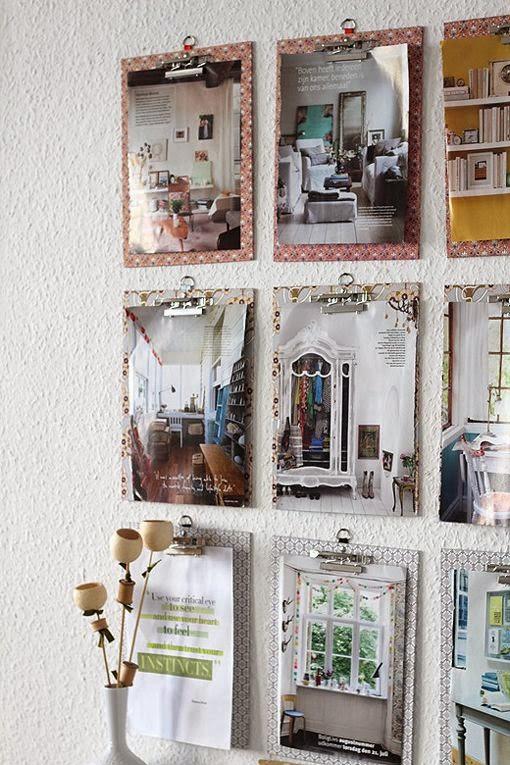 Cómo colgar láminas sin marcos | Decoración