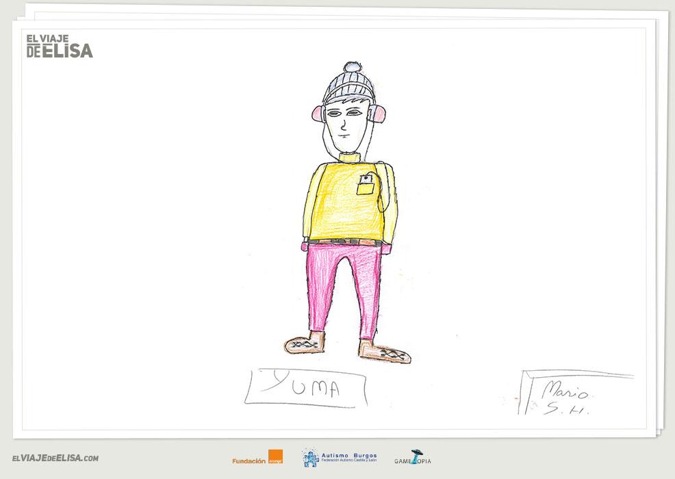 Boceto realizado por una persona con autismo para El viaje de Elisa