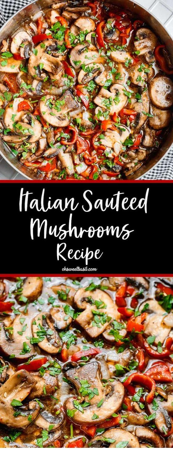 Italian Sauteed Mushrooms Recipe