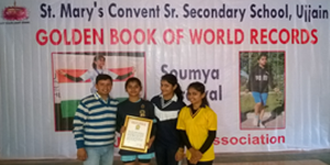 golden book of world records, saumya agrawal in golden book of world records