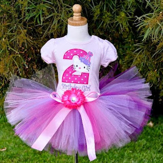 Model tutu dress hello kitty untuk anak