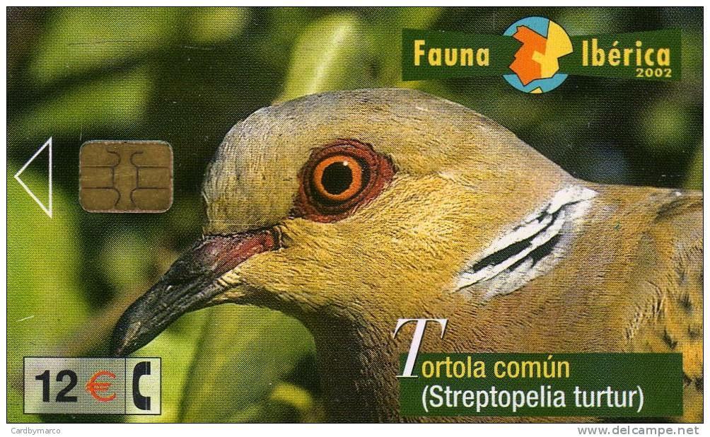 Tarjeta telefónica Tórtola común (Streptopelia turtur)
