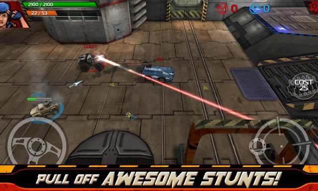 """Là 1 sản phẩm """"con cưng"""" của hãng Glu mobile, game đua xe bắn súng  Indestructible for Android được tạo ra dưới dạng game online phổ biến người  chơi với cá ..."""