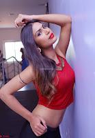 Nishi Gandha in Beautiful Red Crop Top ~  Exclusive 019.jpg