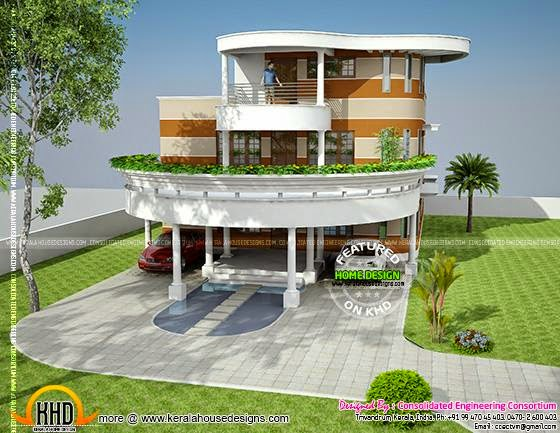 Unique house plan in kerala kerala home design and floor for Creative house designs