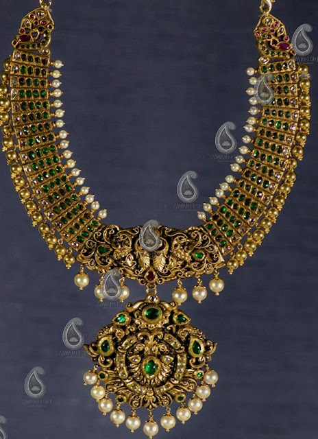 Emerald Kundan Long Set Swarnsri Jewellers