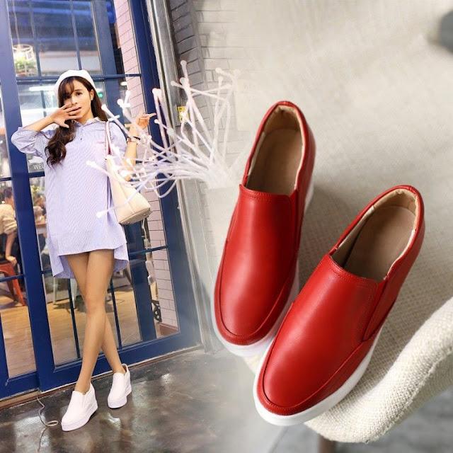 zapatos de plataforma con short