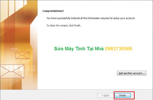 Cài đặt Mail trên Microsoft Outlook 2010 - H08