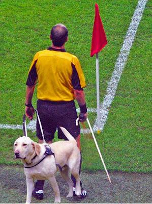 Umstrittene Schiedsrichter Entscheidung - lustige Fußballbilder