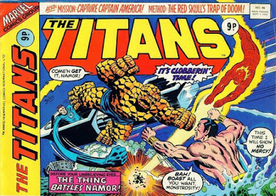Marvel UK, The Titans #46, Fantastic Four vs Sub-Mariner